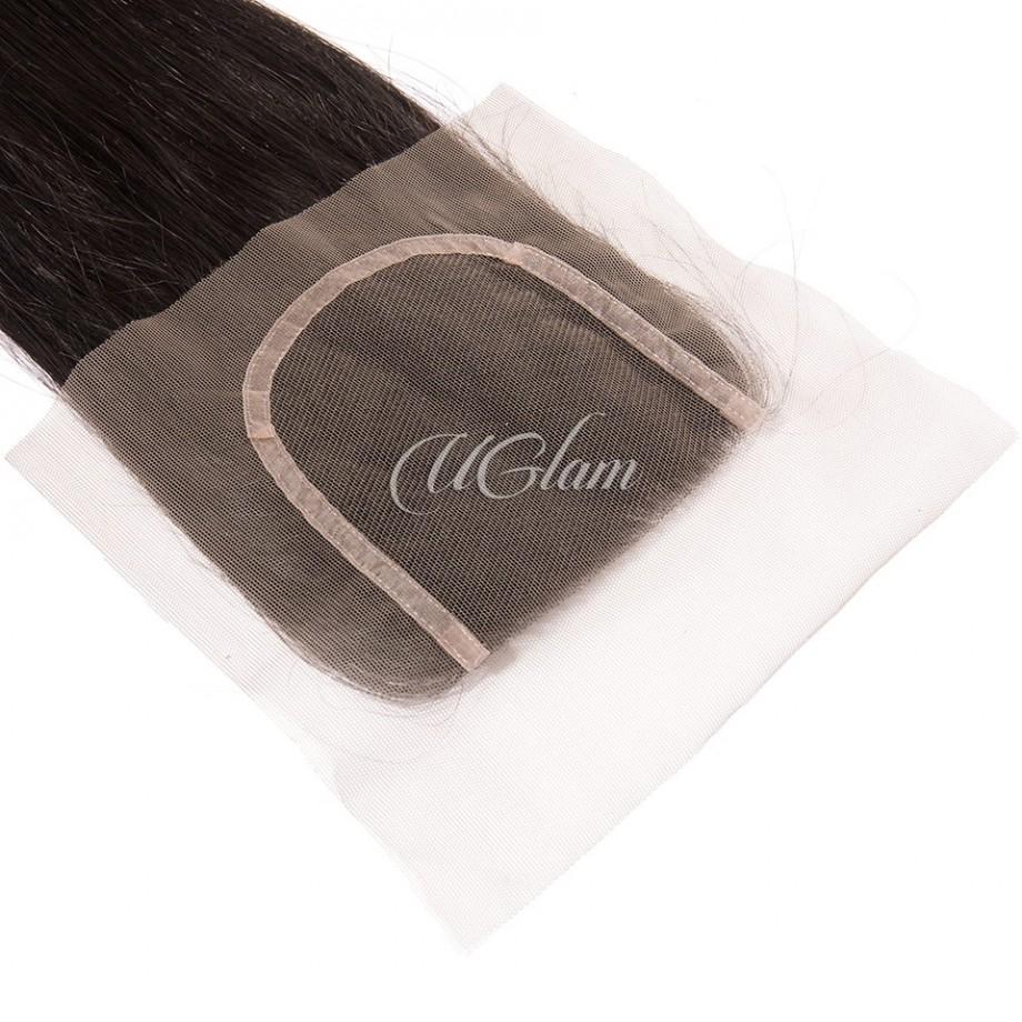 Uglam Hair 4x4 Lace Closure Malaysian Straight Sexy Formula