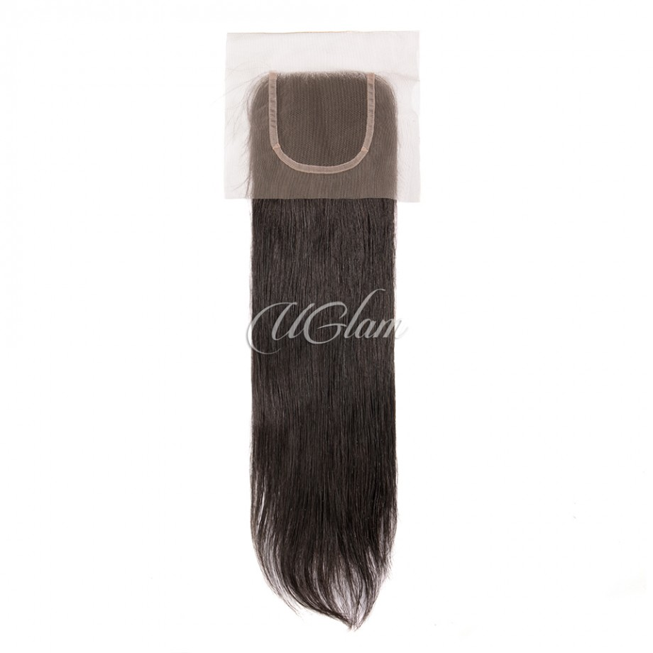 Uglam Hair 4x4 Lace Closure Peruvian Straight Sexy Formula