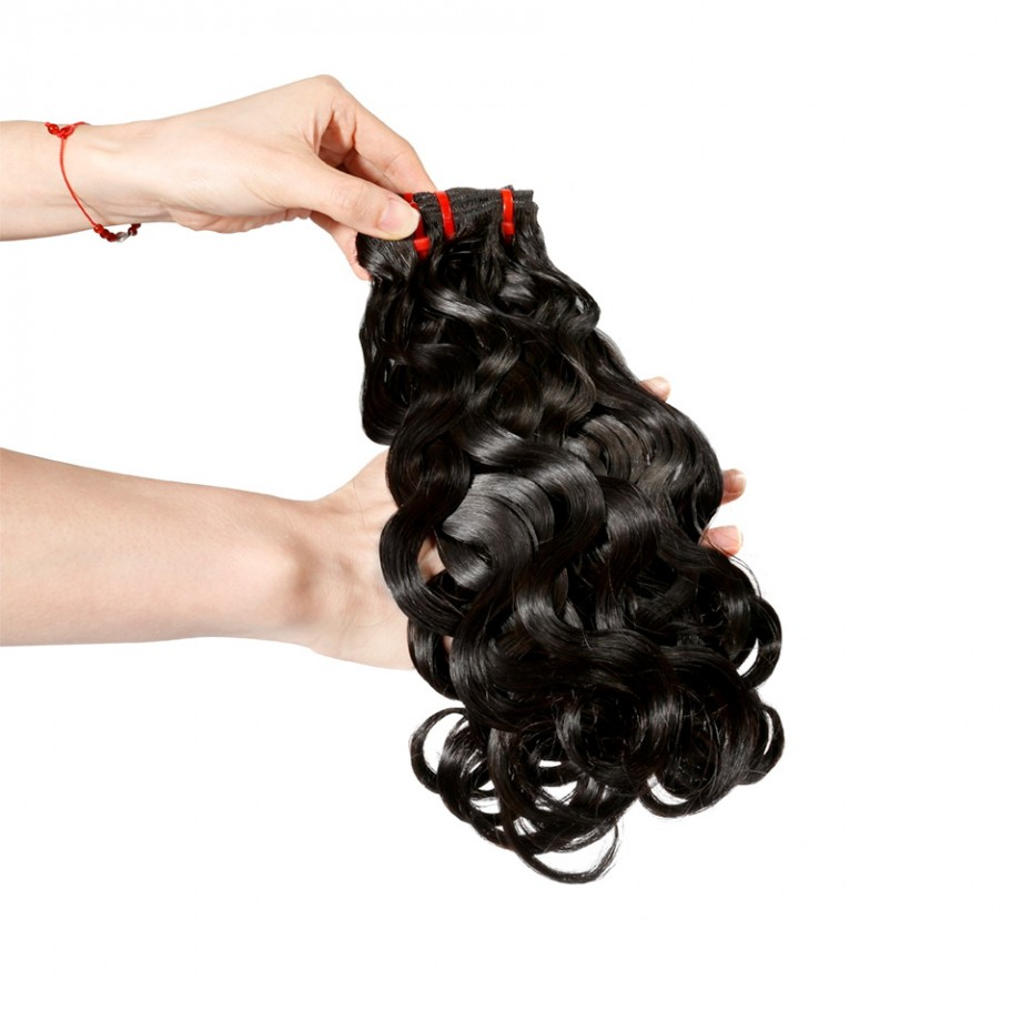 Uglam 3/4pcs Double Drawn Bundles Body Wave Virgin Human Hair