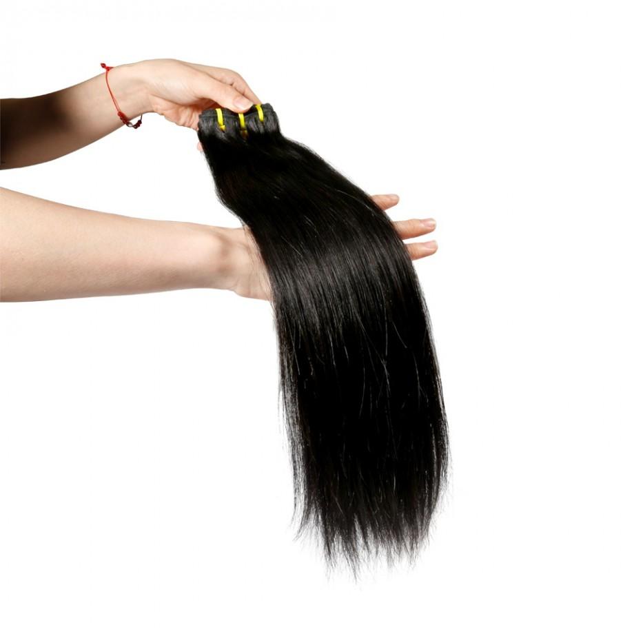 Uglam 3/4pcs Double Drawn Bundles Straight Virgin Human Hair