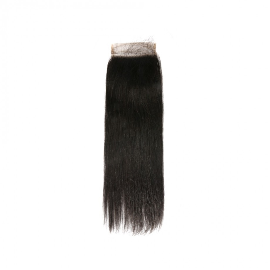 Uglam Double Drawn Bundles With 4X4 Lace Closure Straight