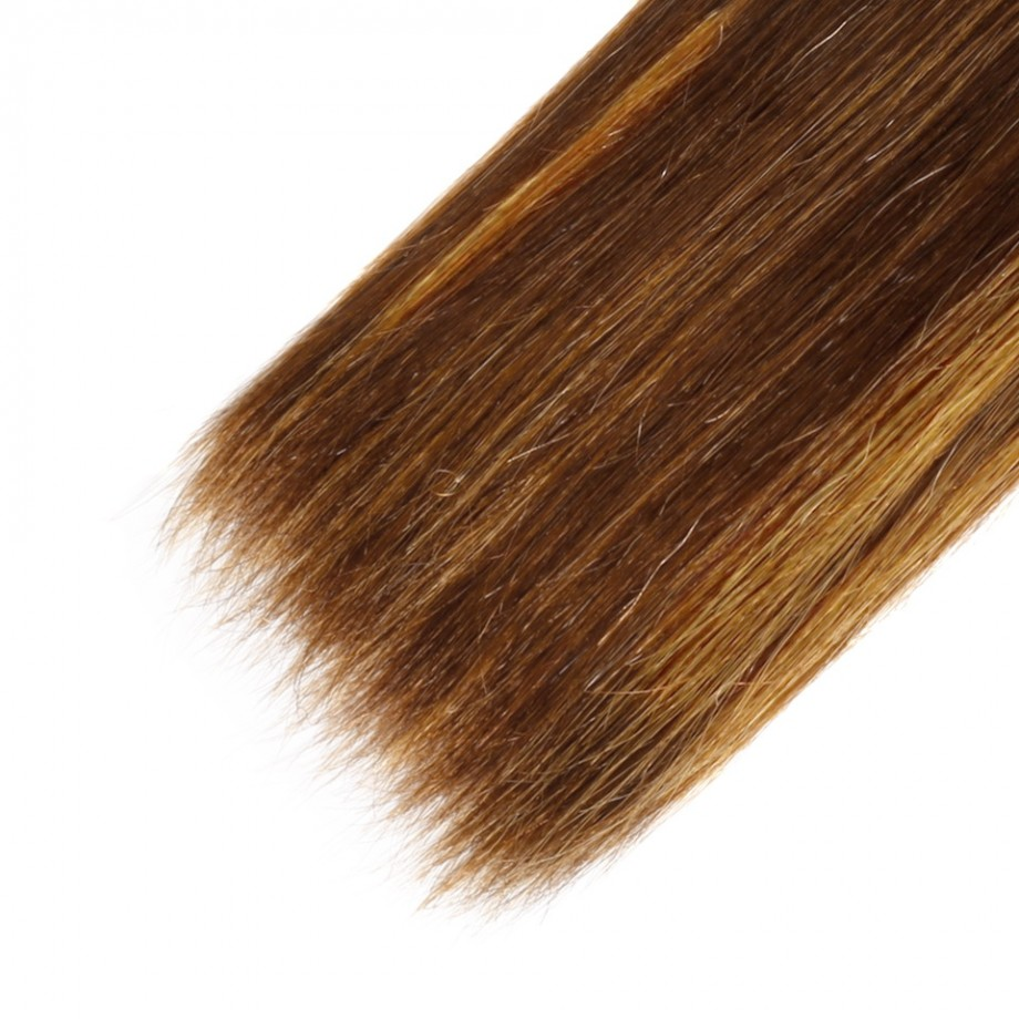 Uglam 3/4pcs Double Drawn Piano Color #4/27 Bundles Straight Virgin Human Hair