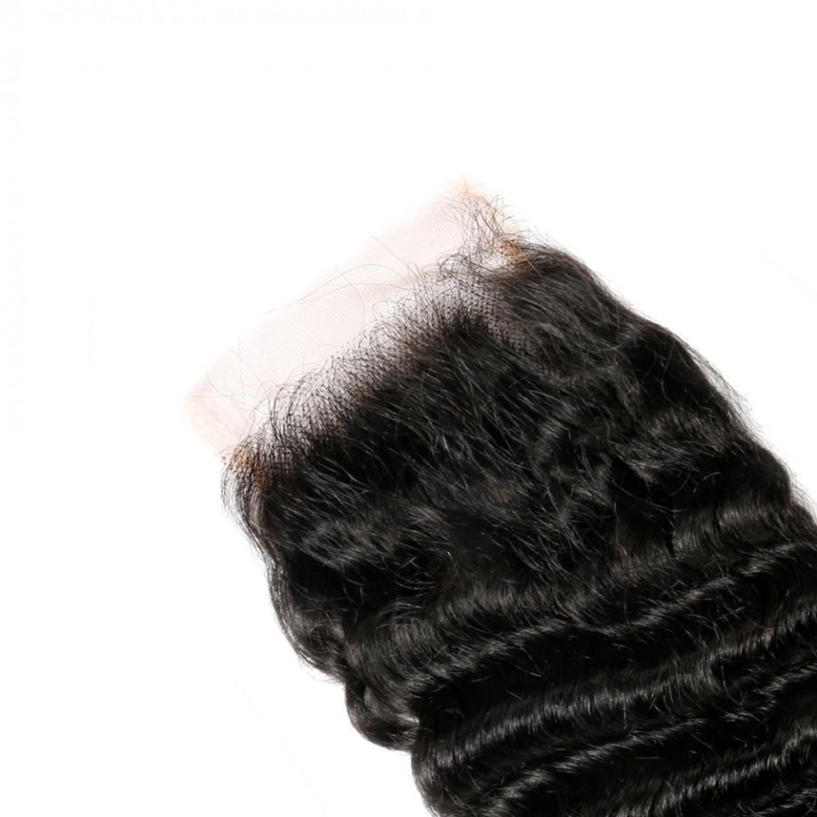 Uglam HD 4X4 5X5 Lace Closure Deep Wave Curly Sexy Formula