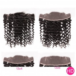 Uglam HD 13X4 13X6 Lace Frontal Deep Wave Curly Virgin Hair