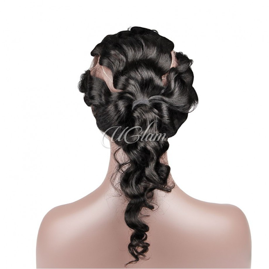 Uglam Hair 360 Lace Front Closure Indian Loose Wave Sexy Formula
