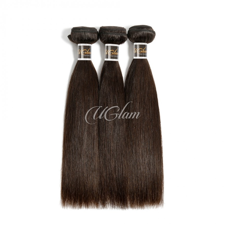 Uglam 3/4pcs Bundles Straight Natural Color Raw Hair Sexy Formula