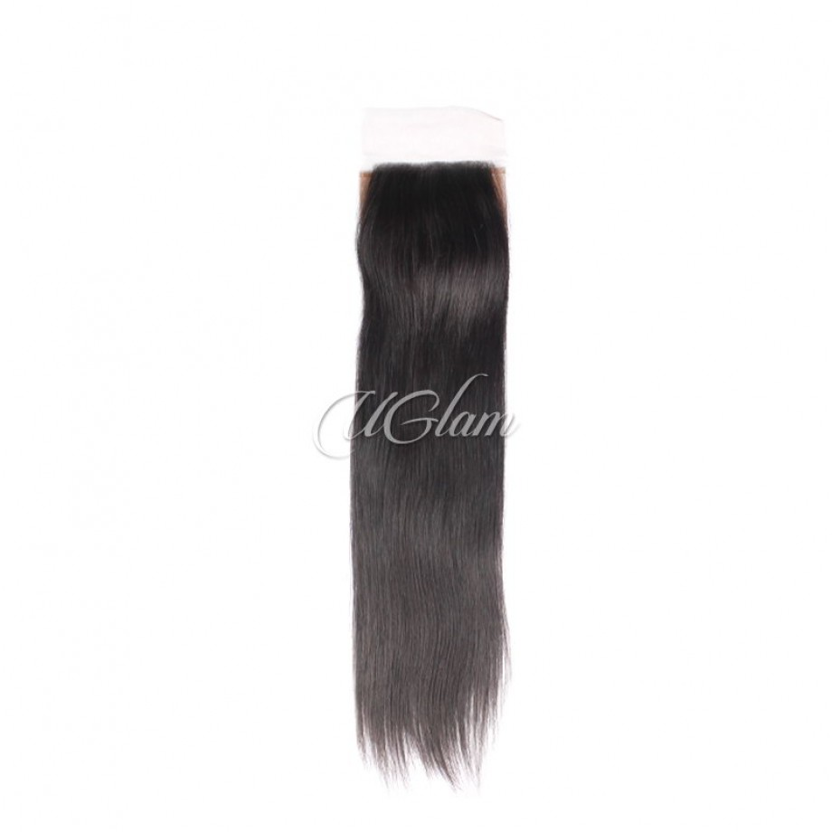 Uglam Hair 4x4 Silk Base Closure Malaysian Straight Sexy Formula