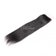 Uglam Hair 4x4 Silk Base Closure Peruvian Straight Sexy Formula