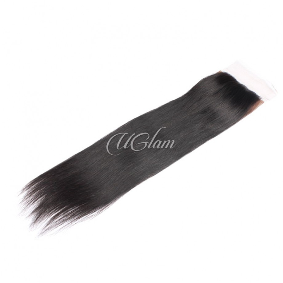 Uglam Hair 4x4 Silk Base Closure Indian Straight Sexy Formula