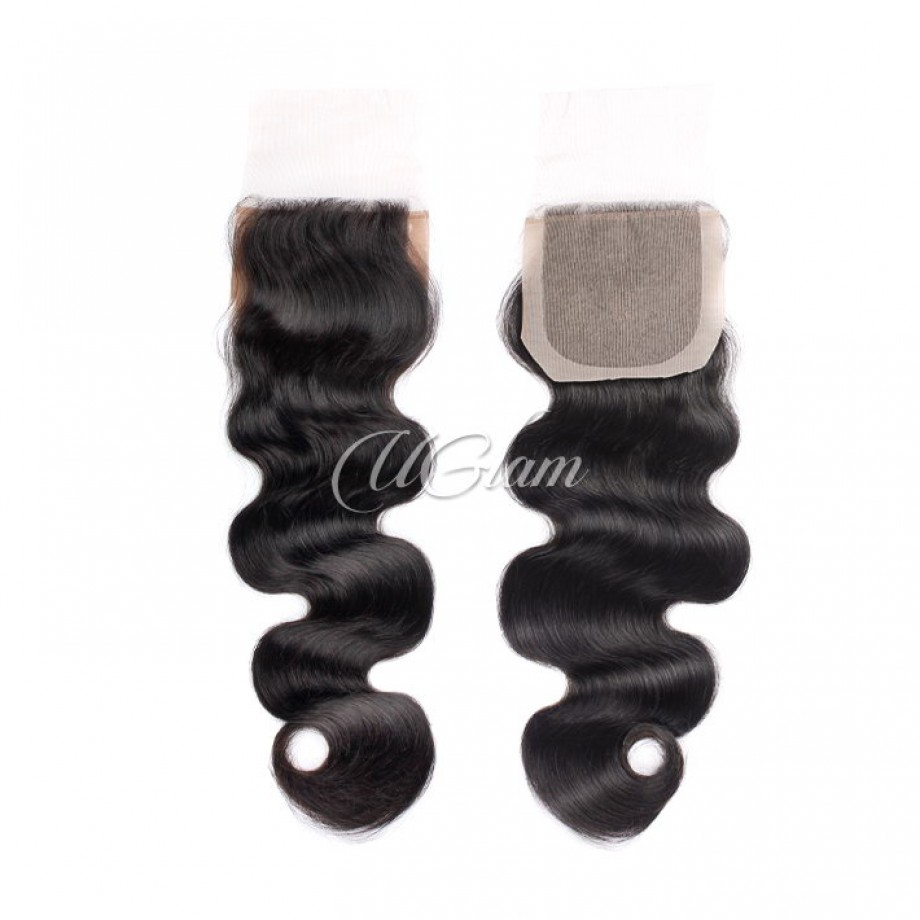 Uglam Hair 4x4 Silk Base Closure Peruvian Body Wave Sexy Formula