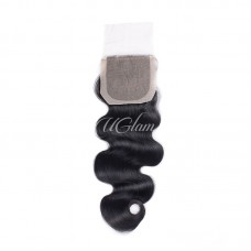 Uglam Hair 4x4 Silk Base Closure Brazilian Body Wave Sexy Formula
