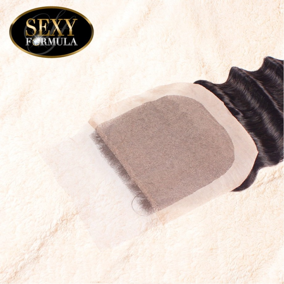 Uglam Hair 4x4 Silk Base Closure Malaysian Deep Wave Curly Sexy Formula