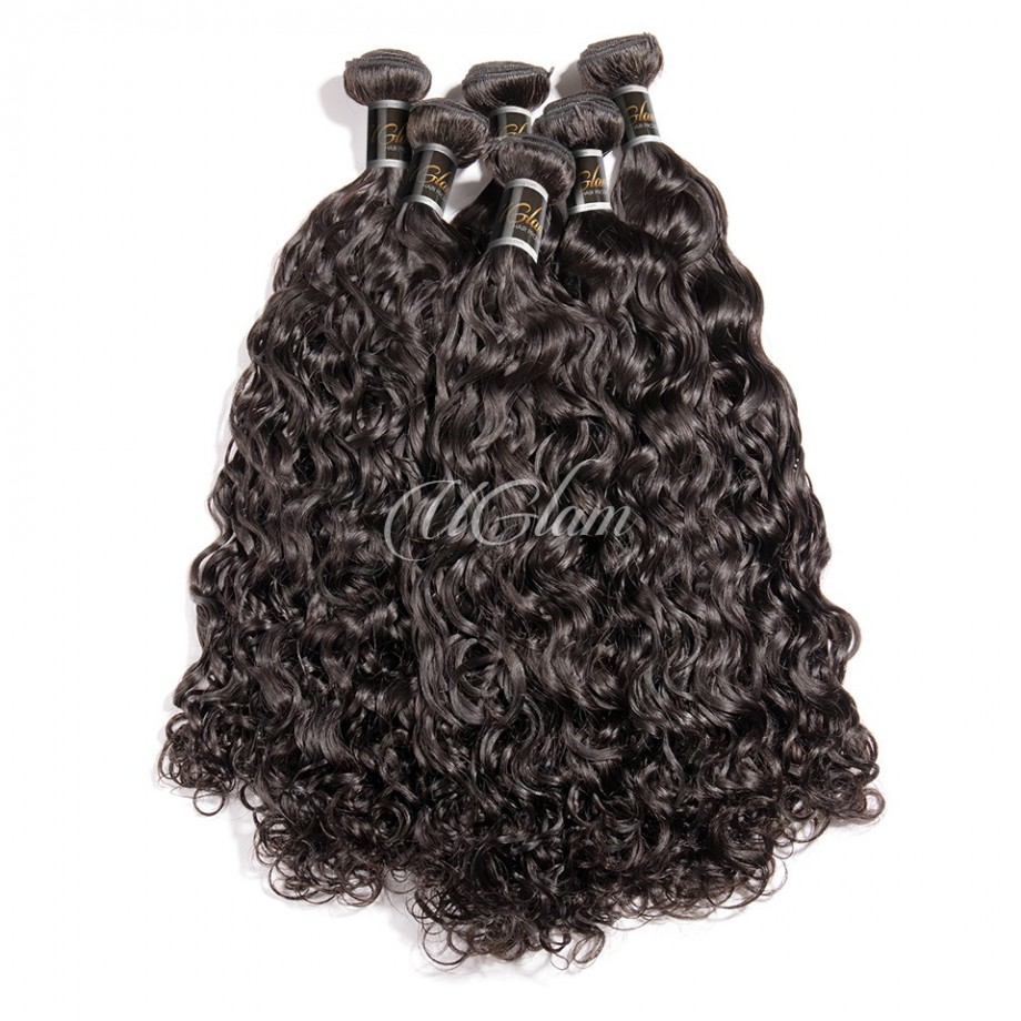 Uglam Hair 3/4pcs Bundles Water Wave Hair Bundles Sexy Formula