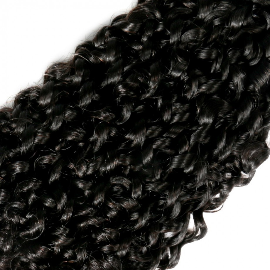 Uglam 3/4pcs Double Drawn Bundles Pissy B Curly Virgin Human Hair