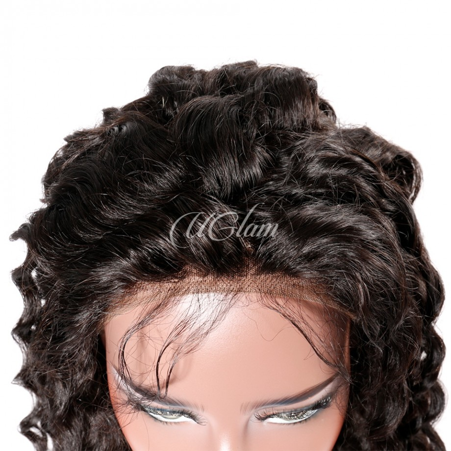 Uglam Hair 13X6 Lace Front Wigs Deep Wave 200% Density