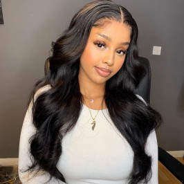 Uglam 13X6 Transparent Lace Front Wigs Body Wave 200%  Density