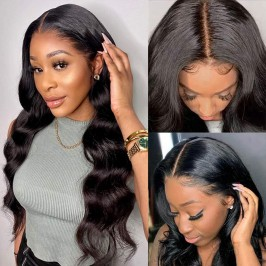 Uglam 13X4/13X6 Transparent Lace Front Body Wave Wig 200% Density