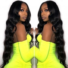 Uglam 13X6 Lace Front Wigs Body Wave 200%  Density