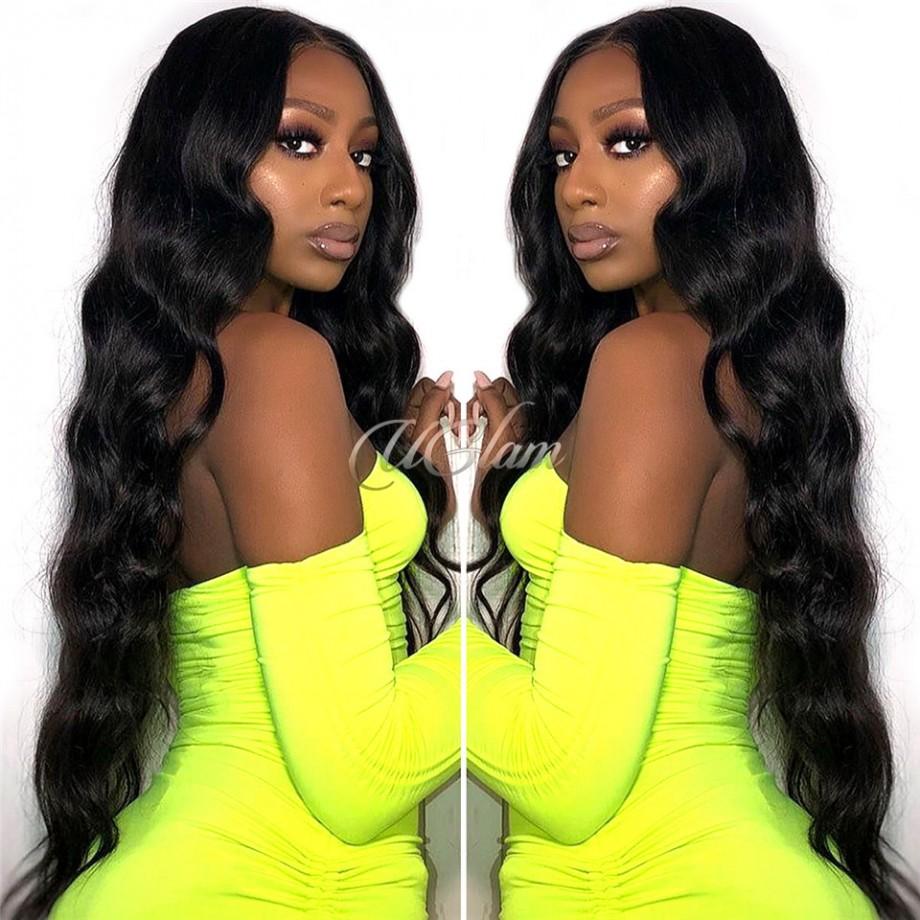 Uglam Hair 13X6 Lace Front Wigs Body Wave 150% & 180% Density