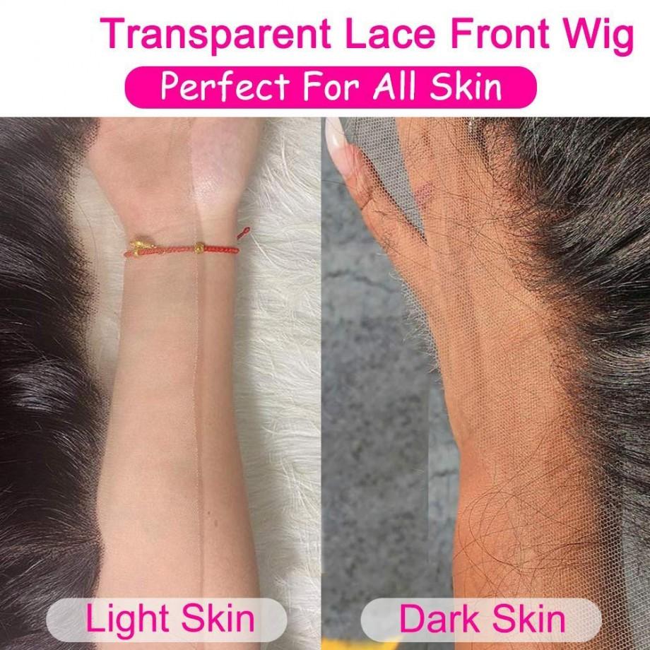 Uglam 13X4/13X6 Transparent Lace Front Deep Wave Wig 200% Density