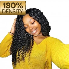 Uglam Hair 13X6 Lace Front Wigs Deep Wave 180% Density