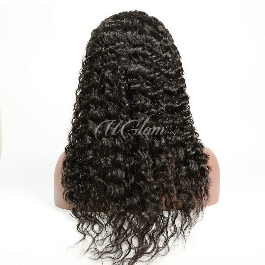 Uglam Hair Deep Wave Curly U Part Lace Front Wigs