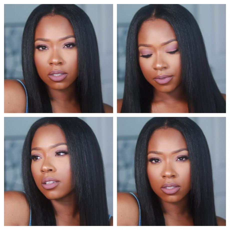 Uglam Kinky Straight U Part Lace Front Wigs