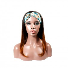 Uglam 1B/350 Color Headband Wigs Straight No PrePlucked Hairline