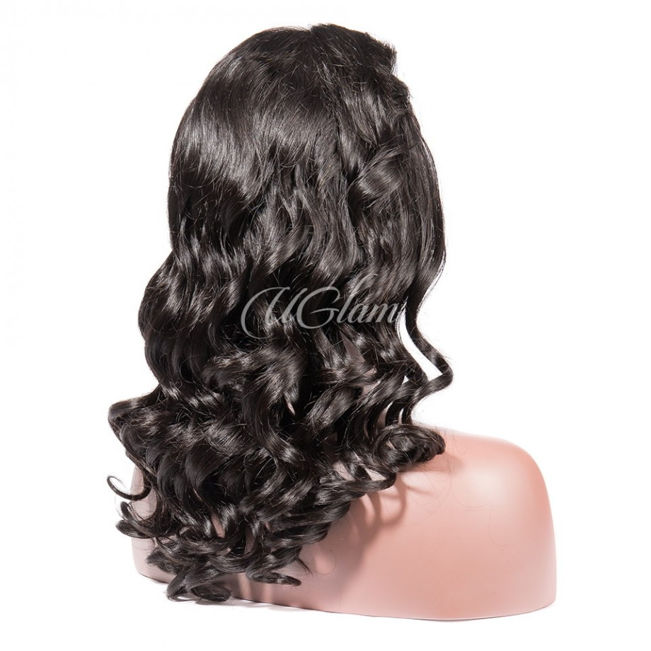 Uglam Hair 360 Lace Front Wigs Big Curl 250% Density