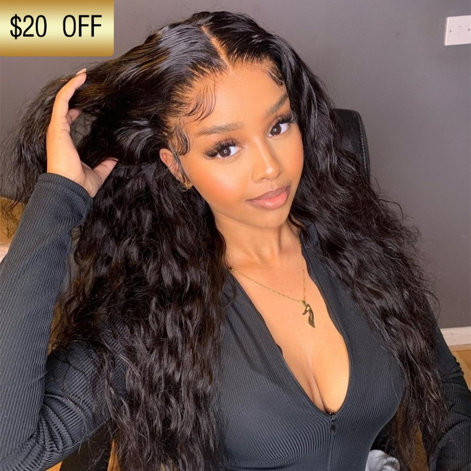 Uglam Clearence 360 Lace Front Deep Wave Wig 250% Density
