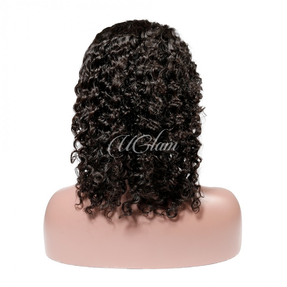Uglam Bob T Part Lace Wigs Deep Wave Hair
