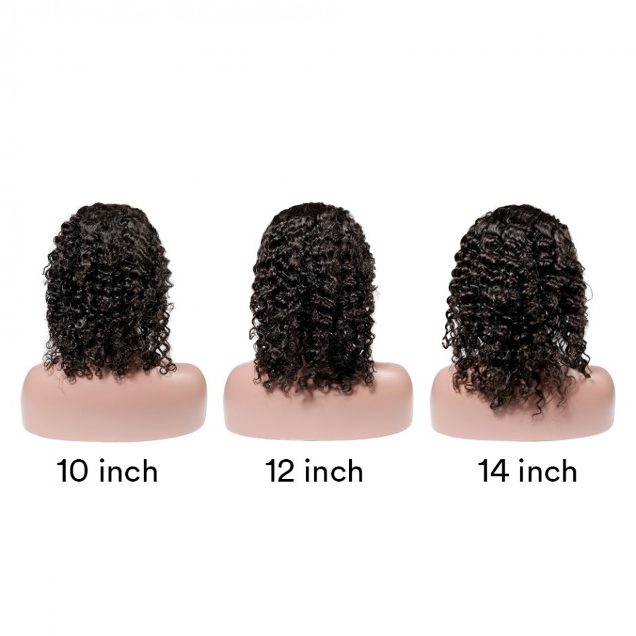 Uglam Hair Bob Lace Front Wigs Deep Wave Hair With Free Part