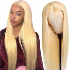 Uglam 360 Lace Front Wigs 613 Honey Blonde Color Straight 150% Density