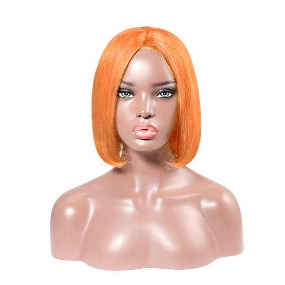 Uglam Color 4X4 Lace Front Bob Wig Straight