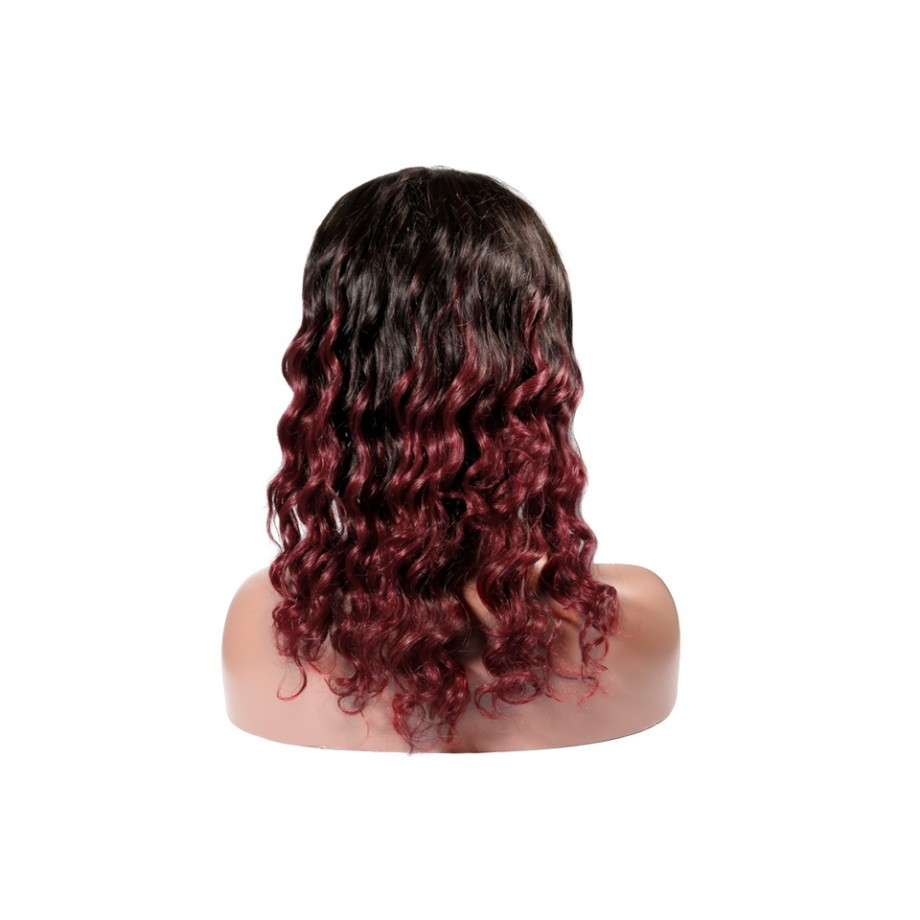 Uglam 1B/530 Color Headband Wigs Deep Wave No PrePlucked Hairline