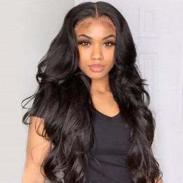 Uglam 5X5 Transparent Lace Closure Wig  Body Wave