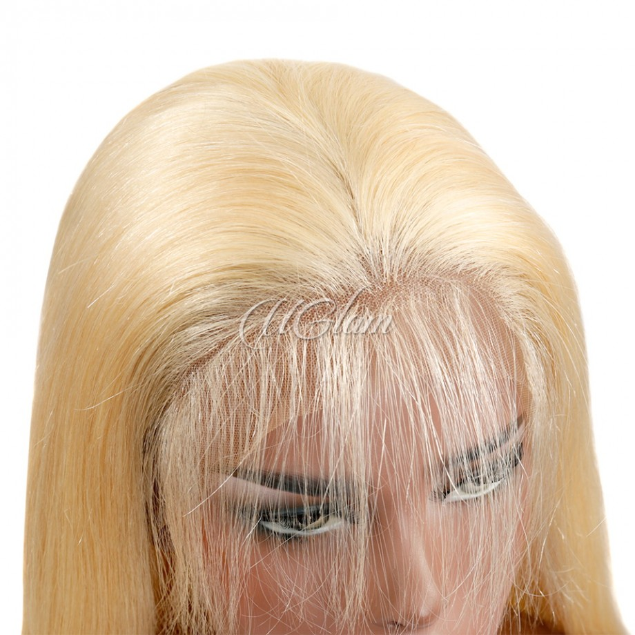 Uglam Hair Lace Front Wigs 613 Blonde Color Straight 150% Density
