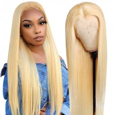 Uglam Lace Front Wigs 613 Blonde Color Straight 180% Density