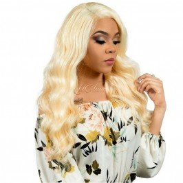 Uglam Lace Front Wigs 613 Blonde Color Body Wave 150% Density