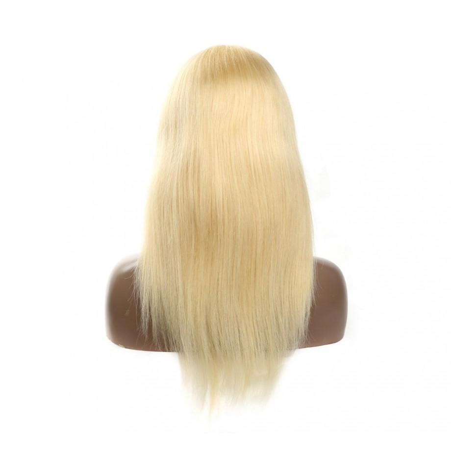 Uglam Closure Wigs 613 Blonde Color Straight Humanhair