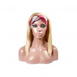 Uglam 613 Color Headband Bob Wigs Straight No PrePlucked Hairline