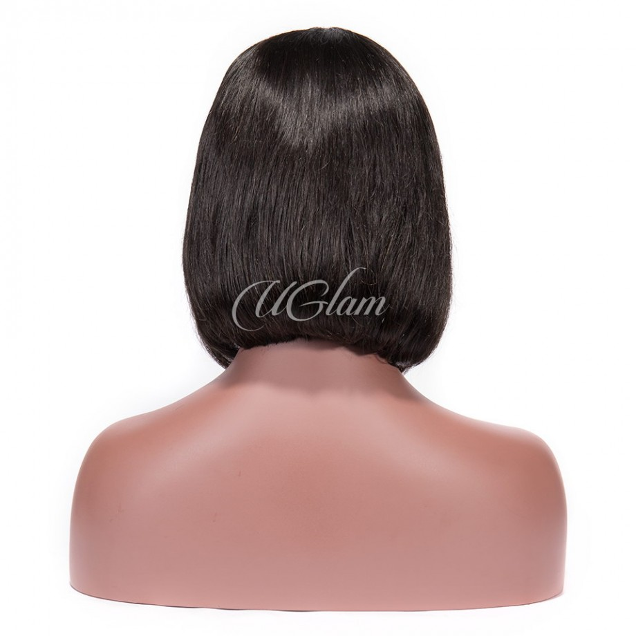 Uglam Bob Lace Front Wigs With Bangs