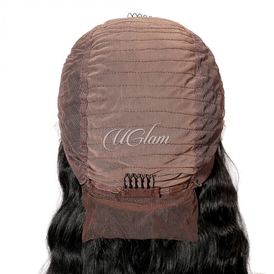 Uglam Hair Bob Lace Front Wigs Body Wave With Free Part
