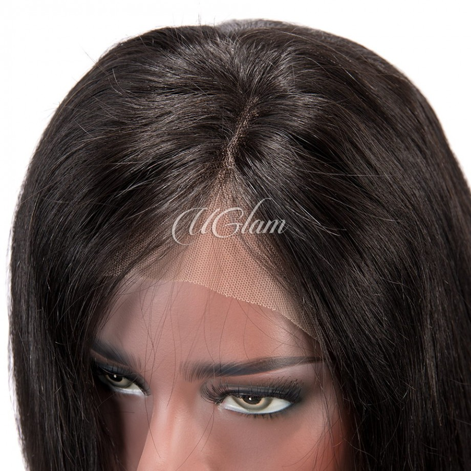Uglam Bob Lace Front Wigs With Free Part