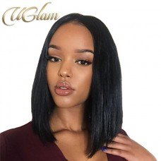 Uglam Hair Bob Lace Front Wigs With Free Part