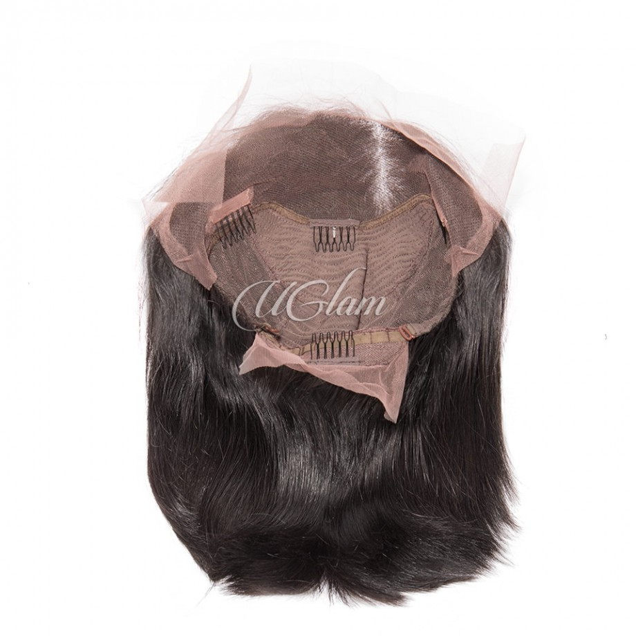 Uglam Hair Bob Lace Front Wigs With Middle Part
