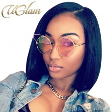 Uglam Hair Bob Lace Front Wigs With Side Part