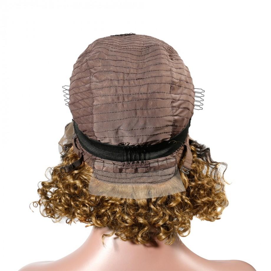 Uglam Bob Lace Front Wigs 1B/30 Color Deep Wave