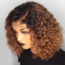Uglam Bob Lace Front Wigs 1B/30 Color Deep Wave