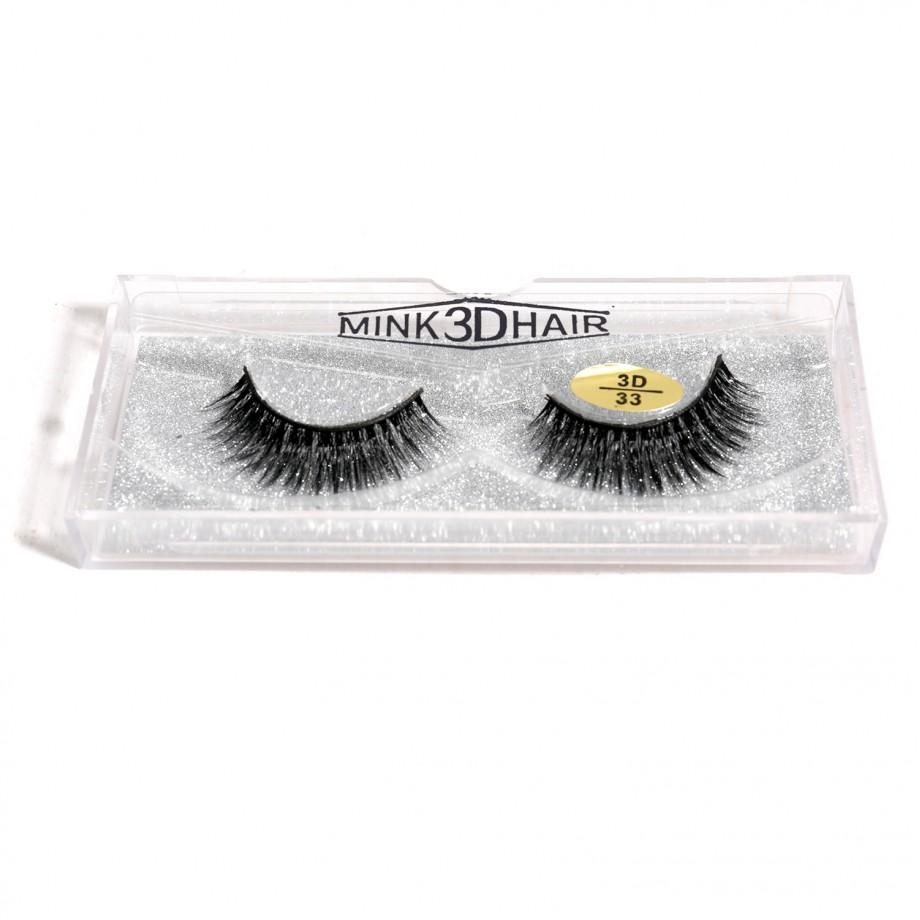Uglam 100% Mink Hair 3D False Eyelashes